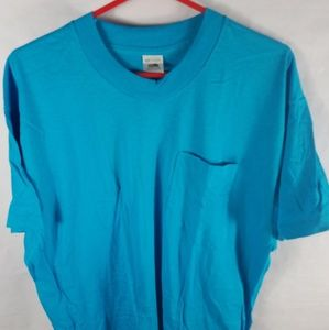 VTG 80s Fruit Of The Loom Pocket Tshirt